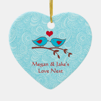 Love Birds Love Nest Door Hanger Ornament
