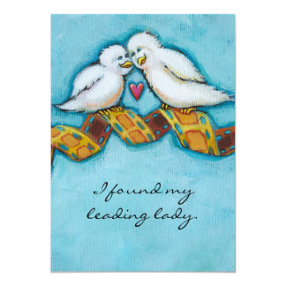 Love birds movie lover film buff romantic painting card