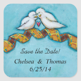 Love birds movie lover film buff romantic painting sticker