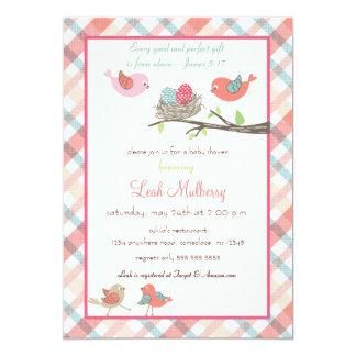 Love Birds Nest - Trendy Scripture Baby Shower 5x7 Paper Invitation Card