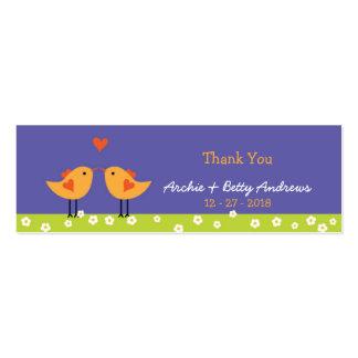 Love Birds (Night) Wedding Favor Tags Mini Business Card
