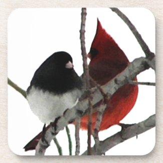 Love Birds Odd Couple Drink Coasters