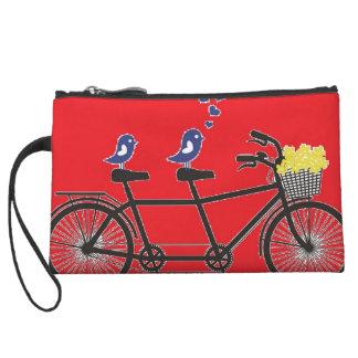 love birds on bike - cute clutch wristlets