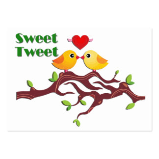 Love Birds on Branch Cards to Hand Out for Kids Large Business Cards (Pack Of 100)