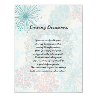 Love Birds on Floral Wreath Informational Sheet Card