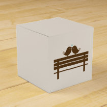 Love Birds on Park Bench {mint} Favor Box