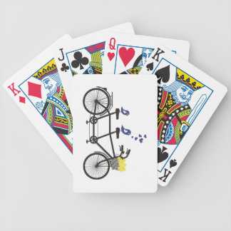 Love birds on tandem bike - playing cards! bicycle playing cards