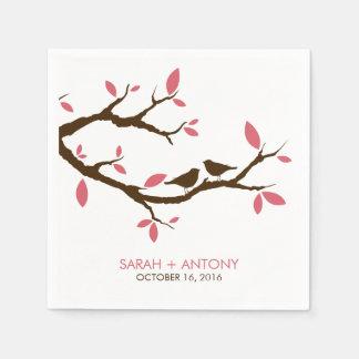 Love Birds on Tree Paper Napkins