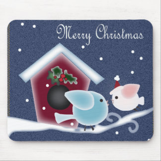 Love Birds Our First Christmas Long Distance Mouse Pad