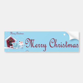 Love Birds Our First Christmas together Bumper Sticker