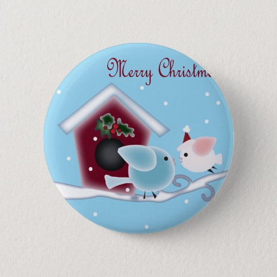 Love Birds Our First Christmas together Pinback Button