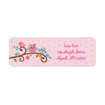 Love Birds Owl Address Labels