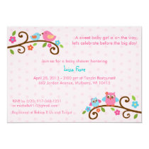 Love Birds Owl Baby Shower Invitations