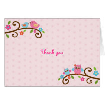 Love Birds Owl Thank You Note Cards