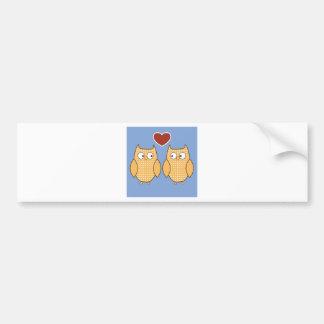 Love Birds Owls Blossom Heart Destiny Shower Party Bumper Sticker