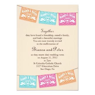 Love Birds Papel Picado Wedding Banners Invitation