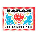 Love Birds Papel Picado Wedding Invitation