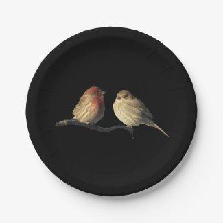 Love Birds Paper Plates