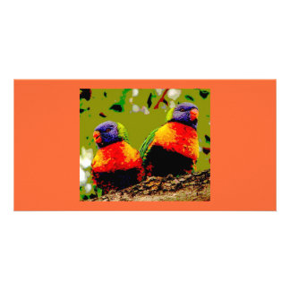 Love Birds Custom Photo Card