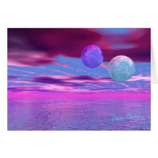 Love Birds - Pink and Purple Passion Card