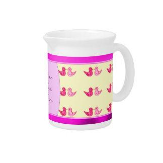 Love Birds (Pink) Beverage Pitcher