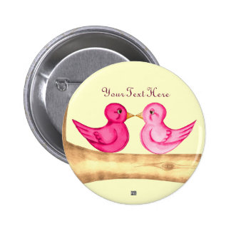 Love Birds (Pink) Pin
