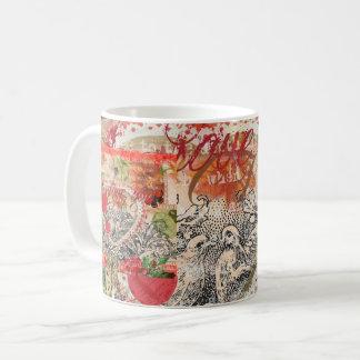 Love Birds Pink Heart Coffee Mug