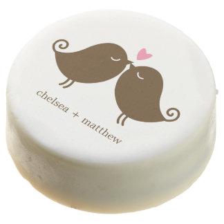 Love Birds {pink} Wedding Chocolate Dipped Oreo