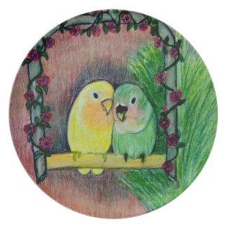 Love Birds Plate Original artwork by Carol Zeock