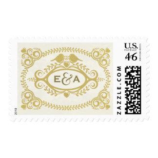 Love Birds Postage Stamp - Antique