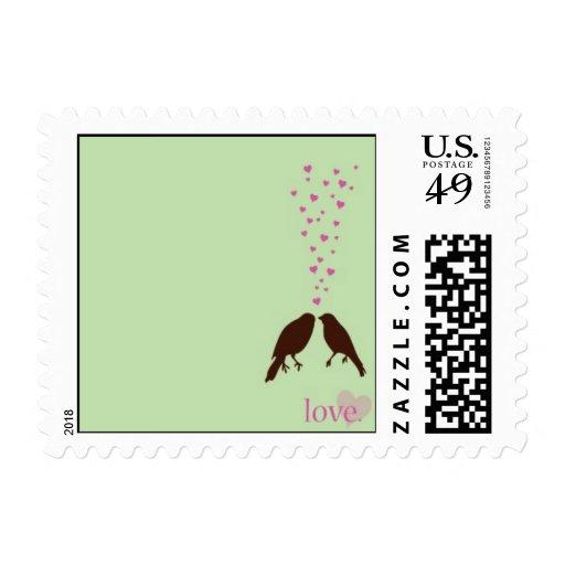 Love Birds Postage Stamps