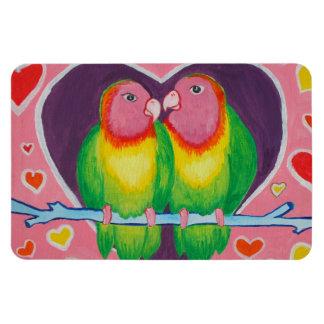 Love Birds Premium Magnet
