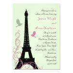 Love Birds Rehearsal Dinner (green) 5x7 Paper Invitation Card