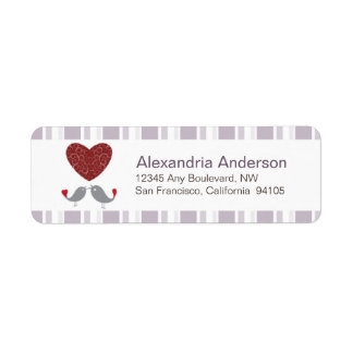 Love Birds Return Address Labels (lilac)