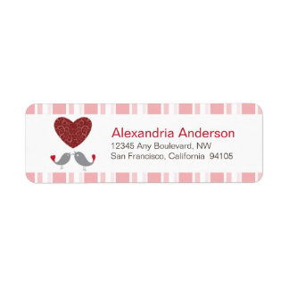 Love Birds Return Address Labels (pink)