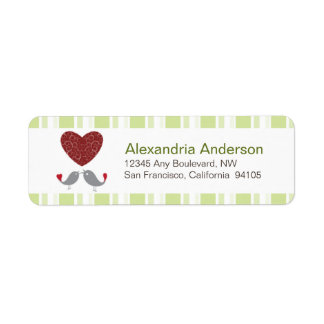Love Birds Return Address Labels (sage)