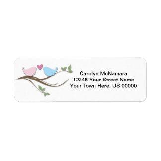 Love Birds Return Labels