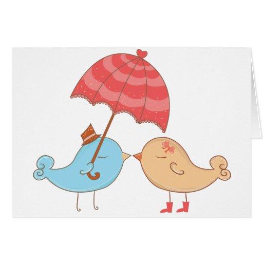 Love Birds Romance Gifts Greeting Card