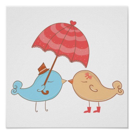 Love Birds Romance Gifts Posters