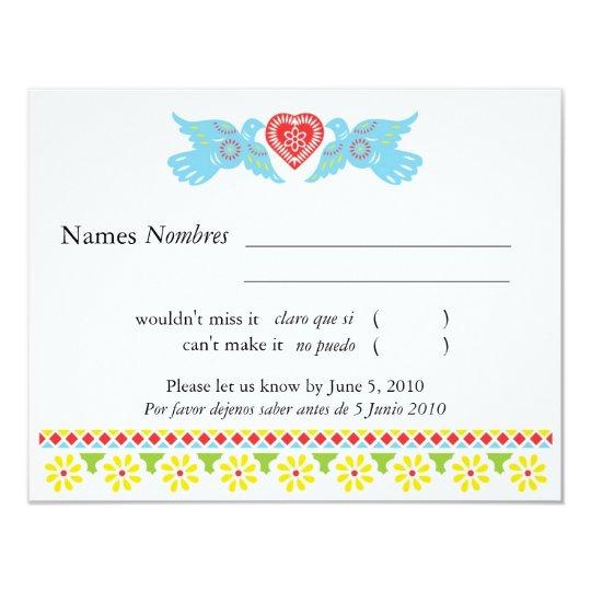 Love Birds RSVP Card - customized
