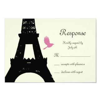 Love Birds RSVP (off white) 3.5x5 Paper Invitation Card