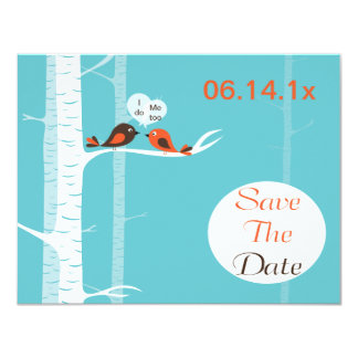 Love Birds Save The Date Announcement