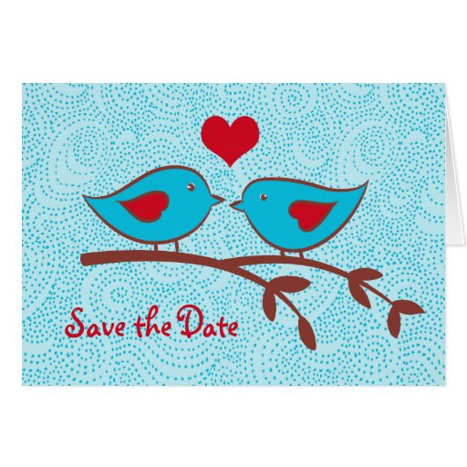 Love Birds Save the Date card