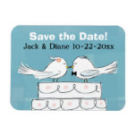 Love Birds Save the Date Flexible Magnet