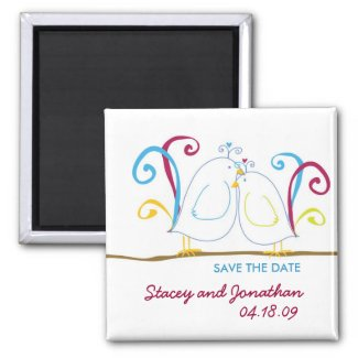 Love Birds Save the Date Magnet magnet