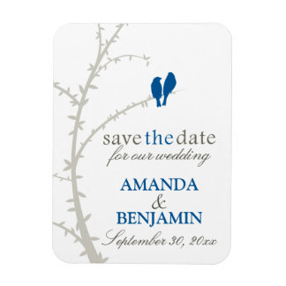 Love Birds Save the Date Magnet (navy)