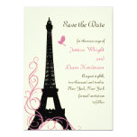 Love Birds Save the Date (off white) 5x7 Paper Invitation Card
