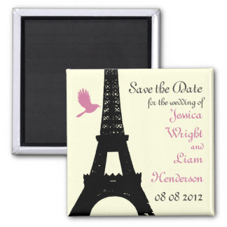 Love Birds Save the Date (off white) Refrigerator Magnet