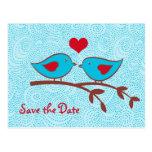 Love Birds Save the Date Postcard