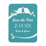 Love Birds Save the Date Rectangle Magnet